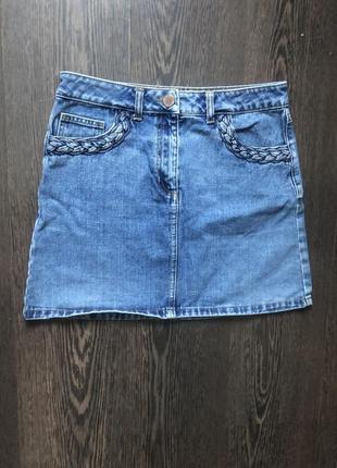 Джинсовая юбка с высокой посадкой miss selfidge