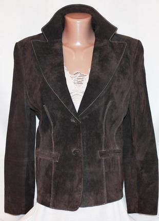 Стильный жакет куртка натуральная мягкая замша, taifun, германия