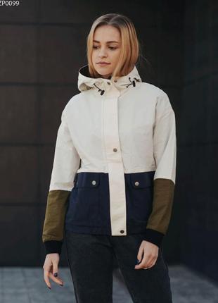 Куртка staff colorblock light & navy