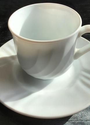 Чайная пара luminarc  новая, 11 пар