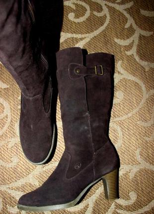 Розпродаж tom tailor шикарні замшеві утеплені чоботи, сапоги 41р