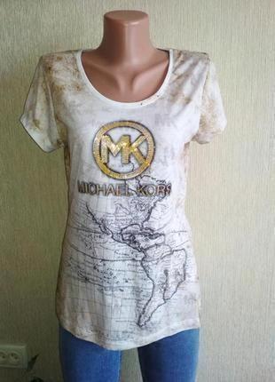 Классная брендовая футболка,р.38-40