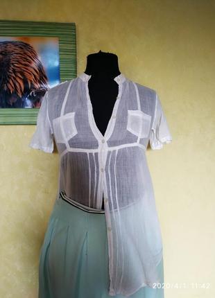 Воздушная туника блуза хлопковая накидка