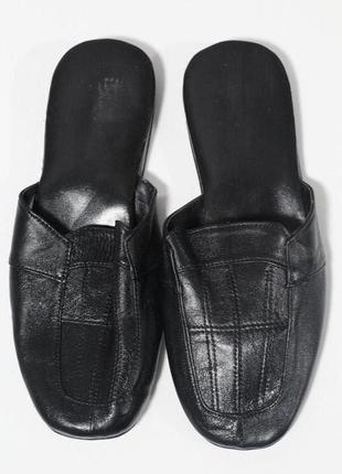 Домашние кожаные тапочки 43-44