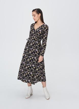 Платье миди, на запах