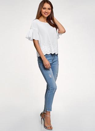 Блуза *топ*блузка *рукав с оборкой