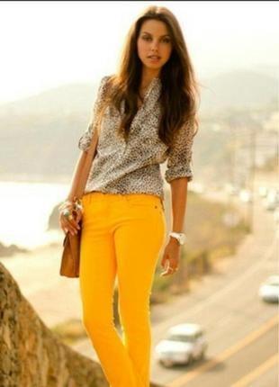 Стильные оранжевые джинсы reals размер s