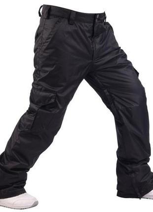 Зимние тёплые водонепроницаемые лыжные штаны на флисе на рыбалку на охоту