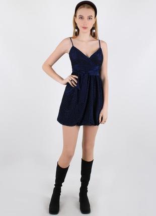 Черно-синее платье new look