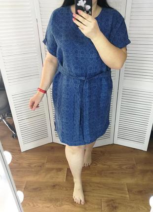 Платье, р. 20,100% лён.