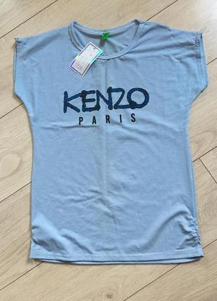 Футболка хлопок свободный крой kenzo