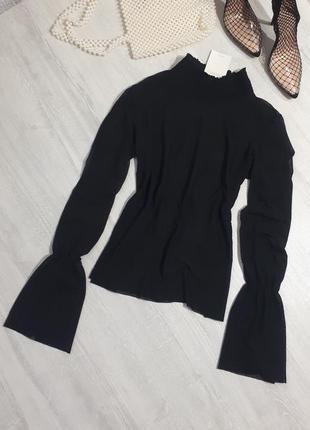 Стильная сетка-блуза от zara /блуза с рукавами воланами/сетка