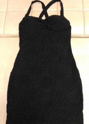Коктельное облегающее платье parisian чёрного цвета, с фактурной цветочной тканью размер 8