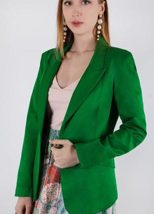 Зеленый пиджак attentif