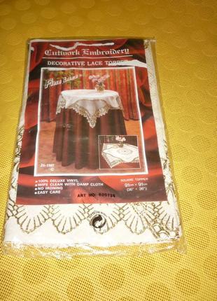 Шикарная декоративная виниловая скатерть