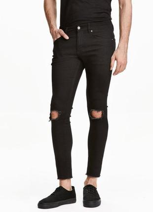 Стильные рваные джинсы h&m skinny