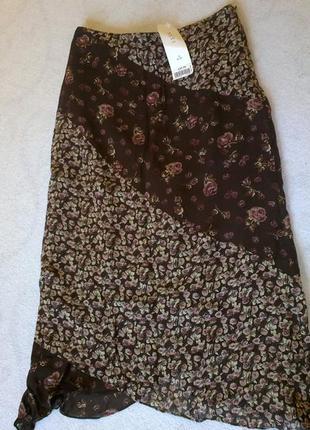 Новая юбка  миди с биркой