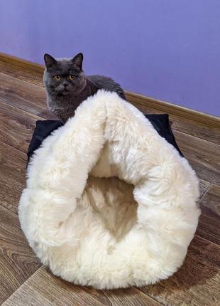 Домик для кота эко-кожа