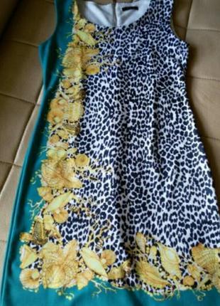Платье с леопардовым и ракушечным принтом, р.l