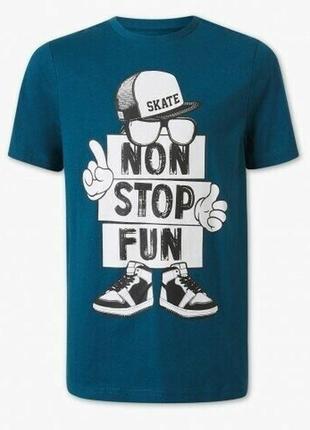 Стильная футболка для подростка c&a. р.170/176 на 14 плюс. био коттон
