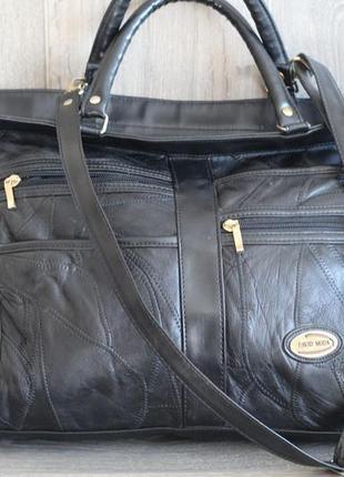 Большая кожаная сумка david moda