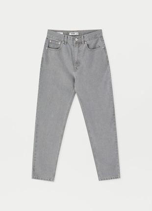 Джинсы джинси мом мам момы серые качественные новые pull&bear