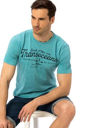 Бирюзовая мужская футболка lc waikiki / лс вайкики trans oceanic