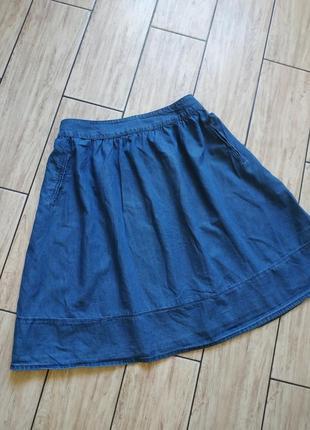 Джинсовая миди юбочка юбка свободнооо кроя