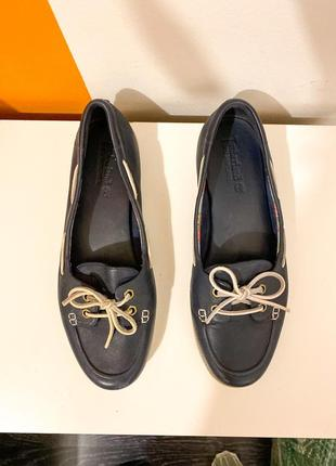 Кожанные мокасины из натуральной кожи timberland, 39 р, туфли, балетки, лоферы