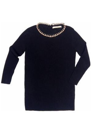Стильный лонгслив джемпер zara knit