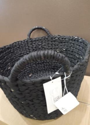 Большая корзина для хранения h&m из плетеной морской травы