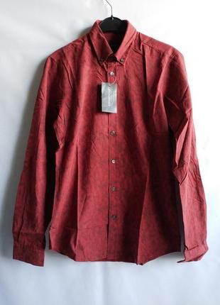 Мужская рубашка slim fit хлопок французского бренда promod европа франция