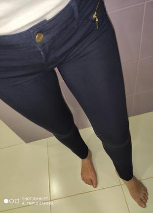 Коттоновые штанишки в синем цвете раз.s-m