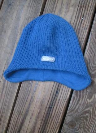 Деми шапка reima на 1-1,5 года трикотажная шапка 50 размер