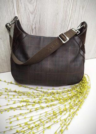 Фирменная сумка из кожи и натуральной замши