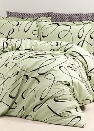 Комплект постельного белья first choice сатин calisto yesil