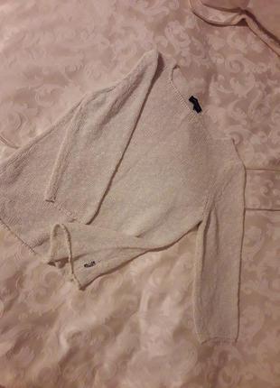Лаконичный свитер цаета экрю район оригинал burberry