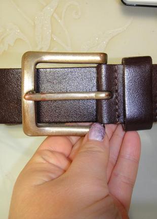 Итальянский кожаный мужской широкий (4.5см) ремень, пояс petrol