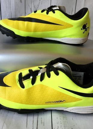 Оригинальная футбольная детская обувь,сороконожки найк/nike hypervenom,mercurial 35.5/22.5