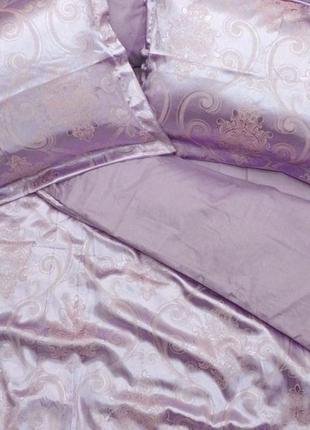 Роскошное постельное белье вилюта сатин tiare жаккард рис.1913 уютный сиреневый