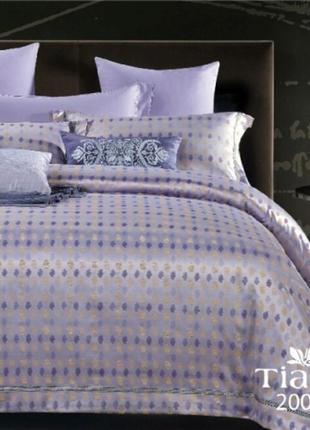 Роскошное постельное белье вилюта сатин tiare жаккард рис.2008 сиреневая свежесть
