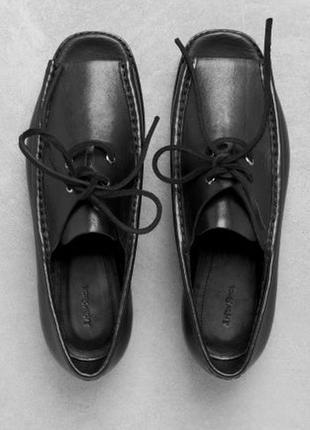 Эксклюзивные туфли оксфорды с открытым носком лимитированная серия размер 37
