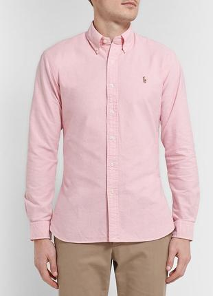 Оригинальная стильная рубашка polo ralph lauren slim fit stretch oxford