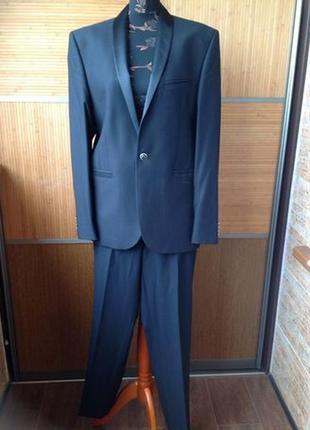 Мужской костюм черный l размер