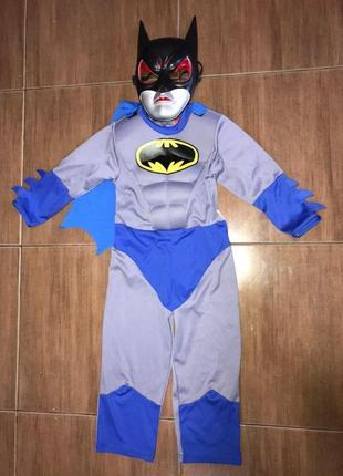 Бэтмен костюм 3-4 года синий с маской