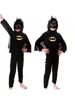 Бэтмен костюм карнавальный 4-5 лет