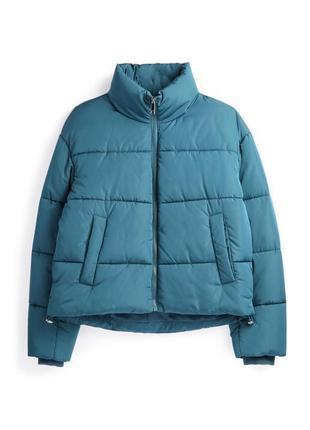 Куртка трендова, голуба, дута, демисезонная куртка, трендовая куртка.