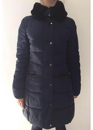 Зимова куртка, зимове пальто, куртка зимова темно-синя, пальто на зиму, пуховик.