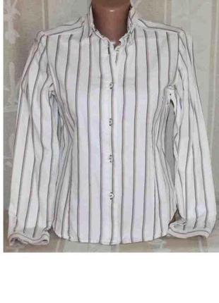 Рубашка в полоску хлопок mary line, италия xs