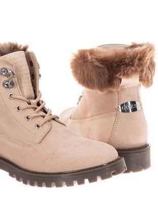 Замшевые ботинки guess